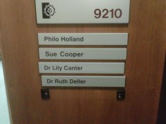 My office door at Sheffield Hallam University