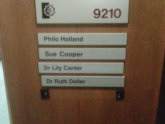 My office door at Sheffield Hallam University