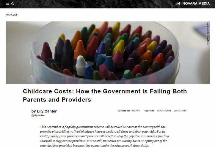 Childcare costs screengrab